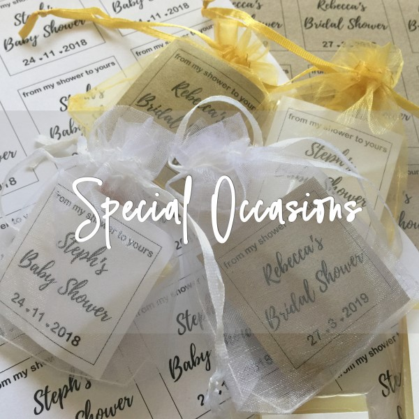 Gifts for Special Occasions - Favour Gifts in many sizes.